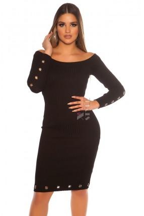 Платье миди с люверсами MF5451
