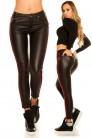 Кожаные брюки термо с лампасами (108084) - цена