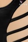 Кэтсьюит-тройка (бюстье, чулки и трусики) (126152) - 3