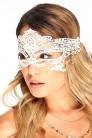 Белая кружевная маска 901002 (901002) - foto