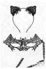Карнавальная маска и обруч с ушками CC2001 (912001) - оригинальная одежда