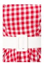 Винтажное платье в красную клетку (105252) - 3