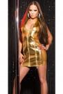 Блестящее золотистое платье KouCla (127164) - оригинальная одежда