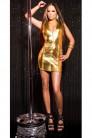 Блестящее золотистое платье KouCla (127164) - 3