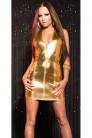 Блестящее золотистое платье KouCla (127164) - материал