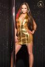 Блестящее золотистое платье KouCla (127164) - foto