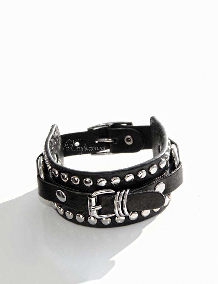 Кожаный браслет-ремешок 710139