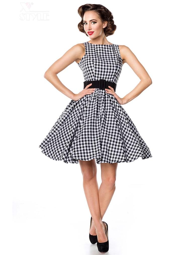 Платье в стиле 50-х с поясом
