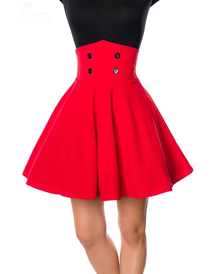 Красная юбка клеш Belsira